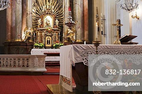 Altar of the Maria Dreieichen Basilica in the Waldviertel region, Lower Austria, Austria, Europe