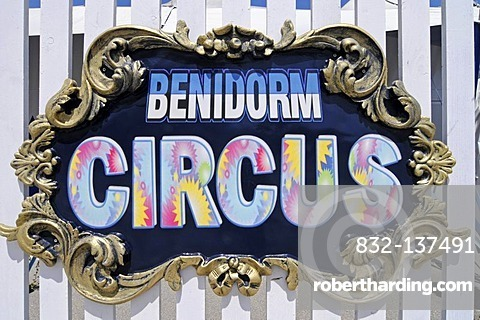 Circus, Benidorm Palace, venue, sign, Benidorm, Costa Blanca, Alicante, Spain, Europe