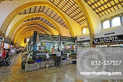 Market hall, Javea, Xabia, Costa Blanca, Alicante, Spain, Europe
