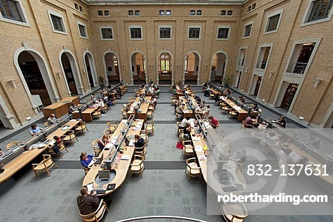 Reading Room Of The Bibliotheca Stock Photo