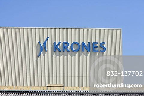 Krones AG company, producing bottling plants, plant in Neutraubling, Bavaria, Germany, Europe