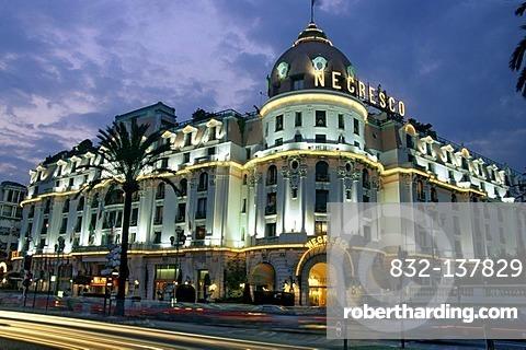 Hotel Negresco, Nice, Alpes Maritimes, France, Europe