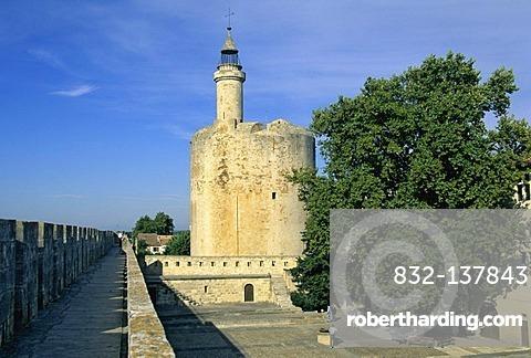 Tour de Constance tower, Aigues-Mortes, Bouches du Rhone, France, Europe