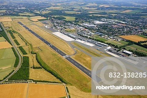 Aerial view, regional airport, Dortmund Airport, Wickede, Dortmund, Ruhr Area, North Rhine-Westphalia, Germany, Europe
