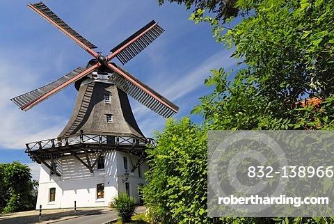 Johanna windmill in Wilhelmsburg Castle, Hamburg, Germany, Europe