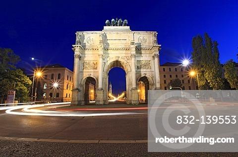 Victory Gate, Ludwigstrasse, Schwabing, Munich, Bavaria, Germany, Europe