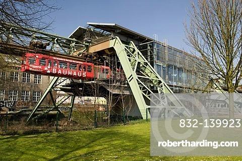 Schwebebahn, suspended monorail station, Wuppertal, Bergisches Land, North Rhine-Westphalia, Germany, Europe