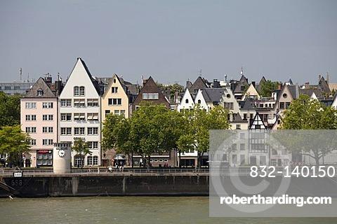 Rhine, old town, Cologne, North Rhine-Westphalia, Germany, Europe
