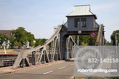 Deutz swing bridge, Cologne, North Rhine-Westphalia, Germany, Europe