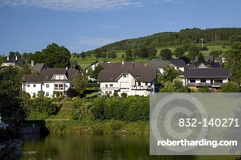 View of Wiemeringhausen district, Olsberg, Sauerland region, North Rhine-Westphalia, Germany, Europe