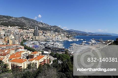 Monte Carlo harbor, Principality of Monaco, Cote d'Azur, Europe
