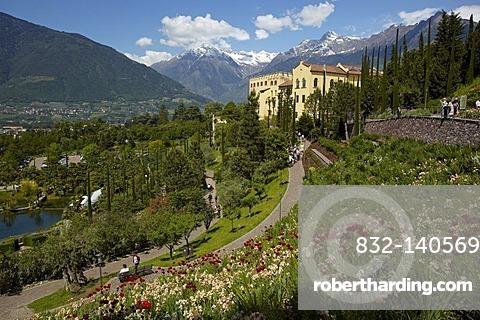 Trauttmannsdorff Castle, Meran, South Tyrol, Italy, Europe