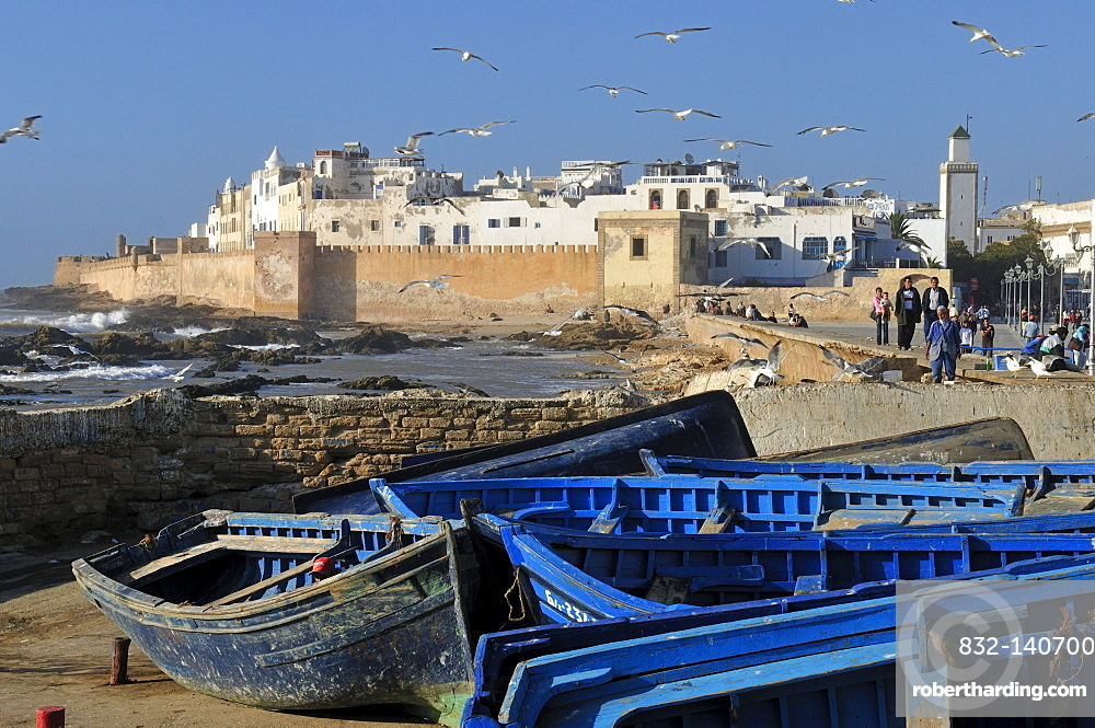 View of the historic town of Essaouira, Unesco World Heritage Site, Morocco, North Africa