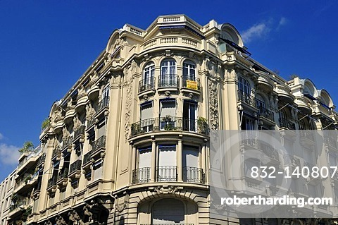 Magnificent historic building in Nice, Department Alpes-Maritimes, Region Provence-Alpes-Cote d'Azur, France, Europe