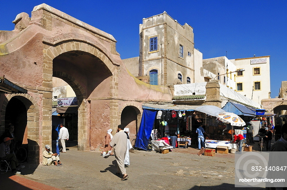 Souk in the old town of Essaouira, Unesco World Heritage Site, Morocco, North Africa