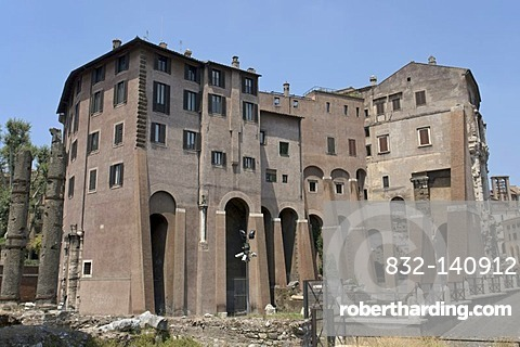 Part of the Theater of Marcellus which was transformed by the Orsini family into a palace-fortress also known as