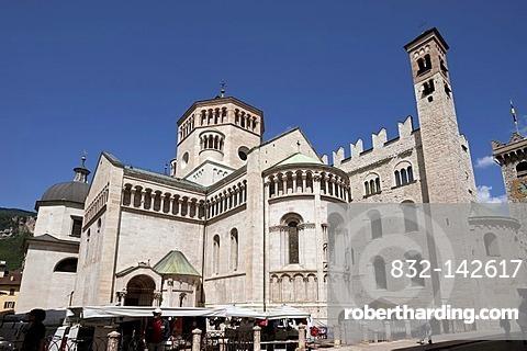 Duomo cathedral, Trent or Trento, Trentino, Italy, Europe, PublicGround