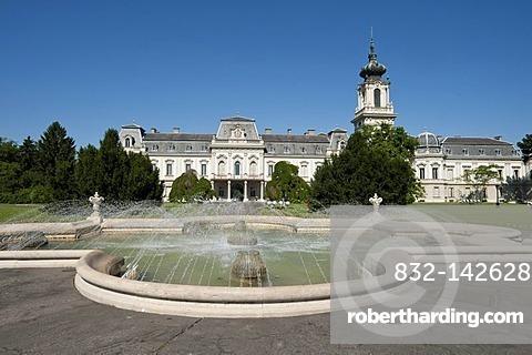 Baroque castle with fountains, Festetics kasteely, Keszthely, Hungary, Europe, PublicGround