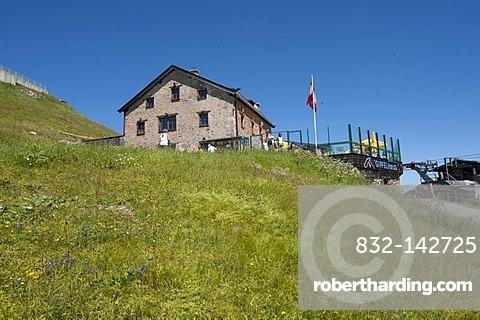 Summit house, Mt. Kitzbueheler Horn, Tyrol, Austria, Europe