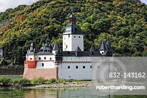 Pfalzgrafenstein Castle in the Rhine River, Kaub, romantic Middle Rhine Valley, UNESCO World Heritage Site, Rhineland-Palatinate, Germany, Europe