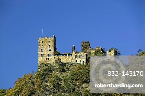 Liebenstein Castle, Kamp-Bornhofen, Middle Rhine Valley, UNESCO World Heritage Site, Rhineland-Palatinate, Germany, Europe
