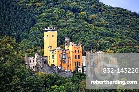 Burg Stolzenfels Castle, Koblenz, Middle Rhine Valley, UNESCO World Heritage Site, Rhineland-Palatinate, Germany, Europe
