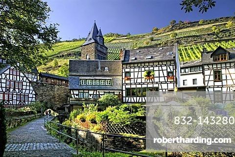 Bacherach, romantic Middle Rhine Valley, UNESCO World Heritage Site, Rhineland-Palatinate, Germany, Europe