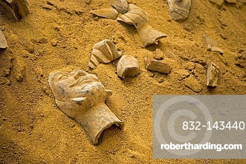 Excavation, Terracotta Army exhibition, faithful replicas of the statues from XIAN in China, Weilburg an der Lahn, Hesse, Germany, Europe