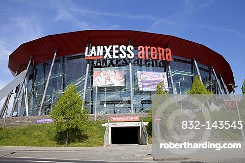 The Lanxess Arena in the Deutz district, Cologne, North Rhine-Westphalia, Germany, Europe