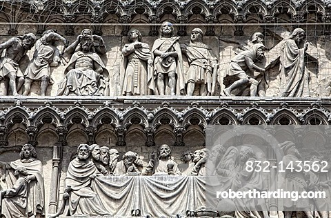 The Last Supper, statues on the Cologne Cathedral, Cologne, North Rhine-Westphalia, Germany, Europe