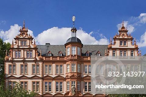House to the Roman Emperor, Gutenberg Museum, Renaissance facade, Mainz, Rhineland-Palatinate, Germany, Europe