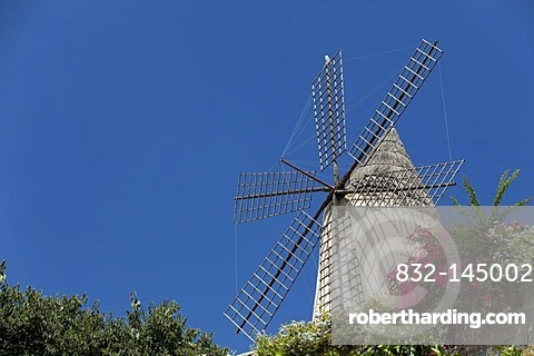 Windmill, Palma de Mallorca, Majorca, Balearic Islands, Spain, Europe