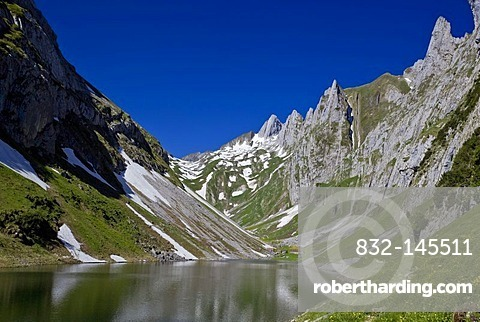 Faelensee lake, Appenzell, Switzerland, Europe