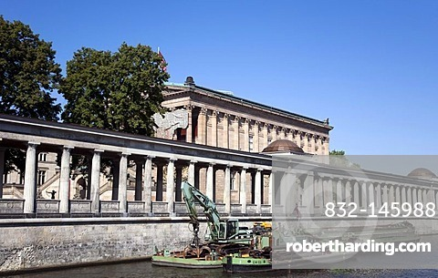 View from the Spree on the Museumsinsel museum island in Berlin, Germany, Europe