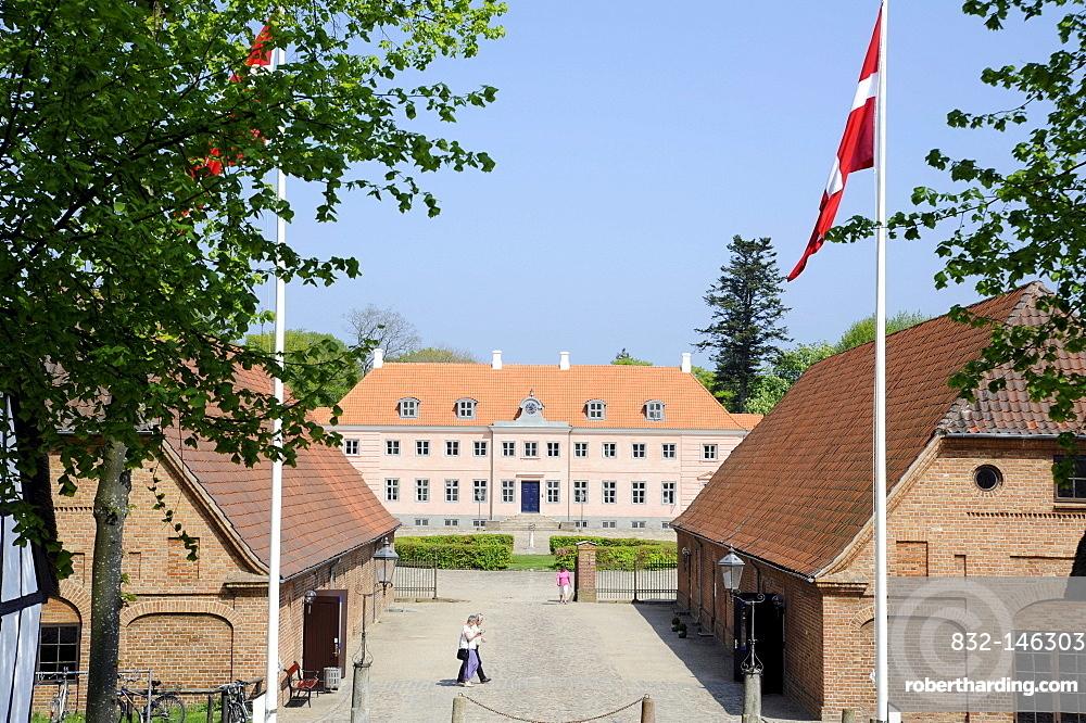 MoesgÂrd Museum, a former manor house, ≈rhus or Aarhus, Jutland, Denmark, Europe