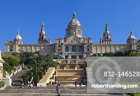 Palau Nacional, the National Palace, Barcelona, Catalonia, Spain, Europe