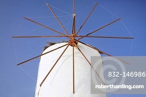 Windmill, Oia, Santorini, Cyclades, Greece, Europe