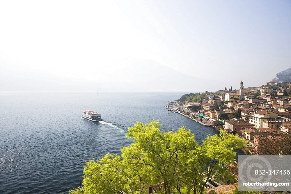 View of the bay of Limone sul Garda, Lombardy, Italy, Europe