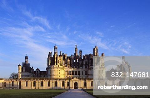 Chateau de Chambord Castle, Loire Valley, Indre-et-Loire, Centre, France, Europe
