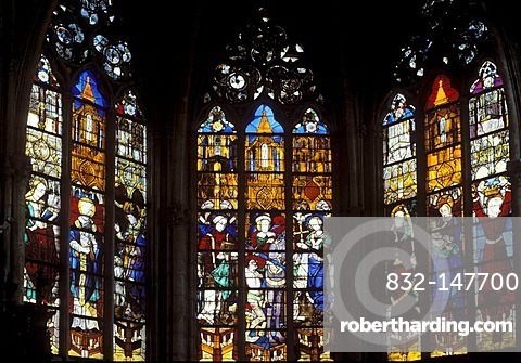 Church with stained glass windows from the 16th Century, gothic abbey church, Trinity Church, Eglise de la Trinite, Vendome, Loir-et-Cher, Centre, France, Europe
