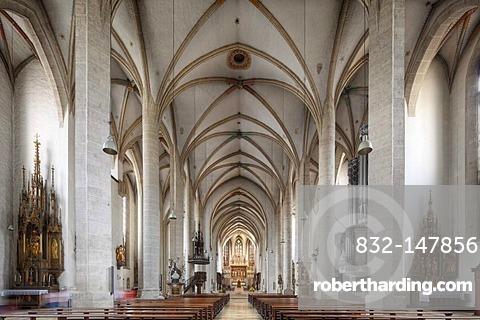 Interior of the Cathedral, Eichstaett, Altmuehltal, Upper Bavaria, Bavaria, Germany, Europe