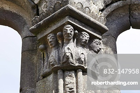 Detail in Kilfenora Cathedral, Burren, County Clare, Ireland, Europe