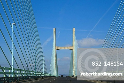 The Second Severn Crossing, Ail Groesfan Hafren, bridge over river Severn between England and Wales, United Kingdom, Europe