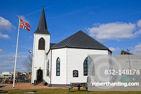 Norwegian Church Arts Centre and Coffee Shop, Cardiff Bay, Cardiff, Caerdydd, South Glamorgan, Wales, United Kingdom, Europe