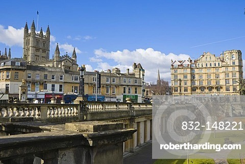 Pierrepont Street, Orange Grove from North Parade, Bath, Somerset, England, United Kingdom, Europe