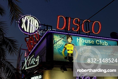 Night club, discotheque, night life, Lloret de Mar, Costa Brava, Spain, Europe