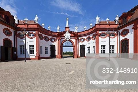 Entrance and orangery of Seehof Palace and Park, Memmelsdorf, Upper Franconia, Bavaria, Germany, Europe