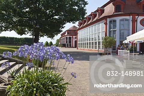 Orangery at Schloss Seehof castle and gardens, Memmelsdorf, Upper Franconia, Bavaria, Germany, Europe