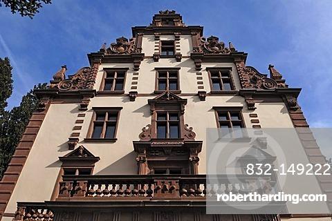 Main facade of the Ducal palace, Grossherzoglisches Palais, neo renaissance, now used for art exhibitions, Am Schlossplatz, Badenweiler, Baden-Wuerttemberg, Germany, Europe