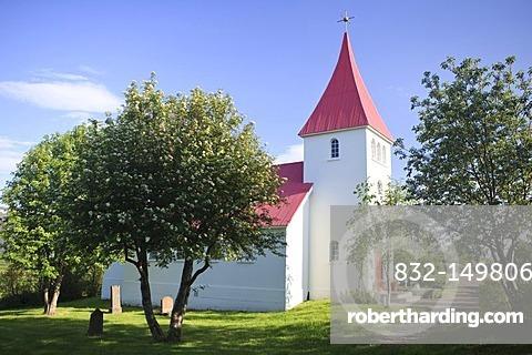 Local church of Vallanes, Egilsstadir, Iceland, Europe
